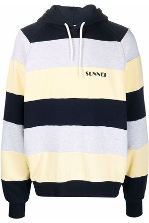 SUNNEI Hoodies - Stripe-print cotton hoodie
