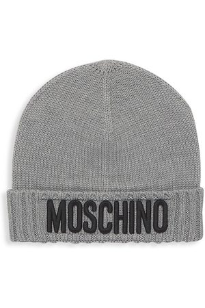 Moschino Kid's Logo Embroidered Knit Beanie