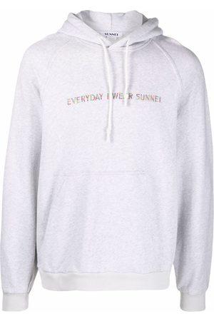 SUNNEI Slogan-print cotton hoodie - Grey