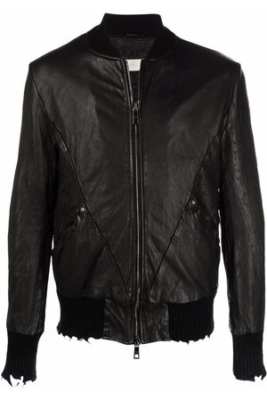 GIORGIO BRATO Men Leather Jackets - Distressed leather jacket