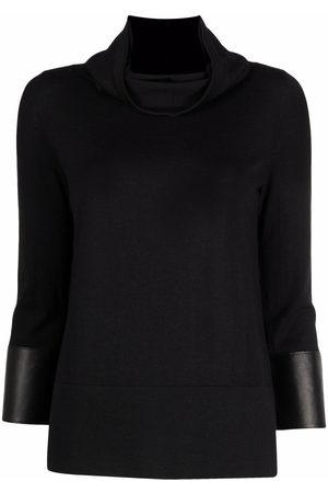 Snobby Sheep Women Tops - Cowl neck silk-cashmere knitted top