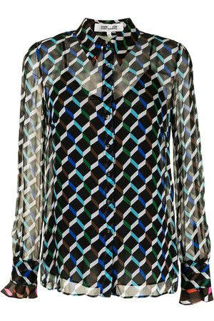 DVF Diane von Furstenberg Women Shirts - Geometric print shirt - Multicolour