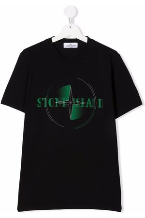 Stone Island Junior Short Sleeve - TEEN logo-print short-sleeved T-shirt