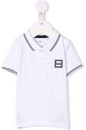 BOSS Kidswear Logo-patch cotton polo shirt