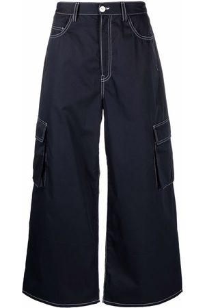 Sunnei Men Wide Leg - Cargo-pocket wide-leg jeans