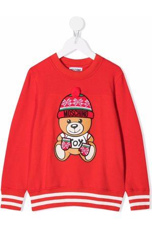 Moschino Kids Girls Hoodies - Teddy bear-print sweatshirt