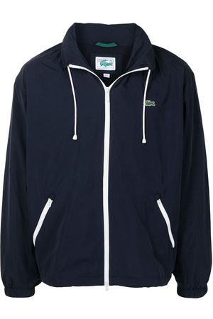 Lacoste Logo-patch zip-up hoodie