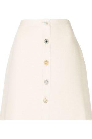 ADAM LIPPES Women Mini Skirts - Button-front mini skirt - Neutrals