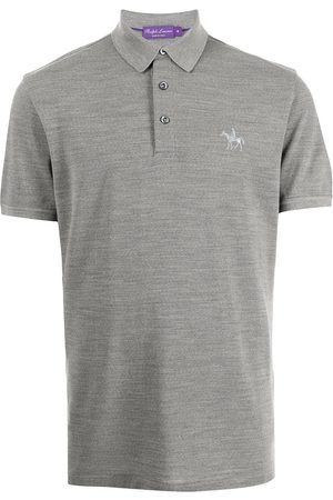 Ralph Lauren Knight-embroidered polo shirt - Grey