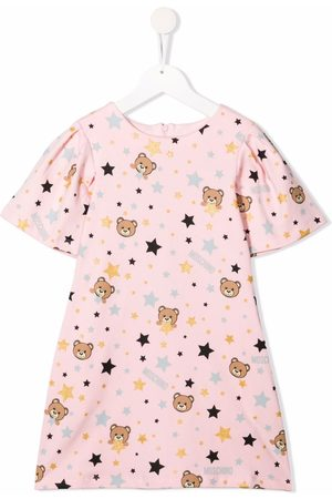 Moschino Kids Teddy print dress