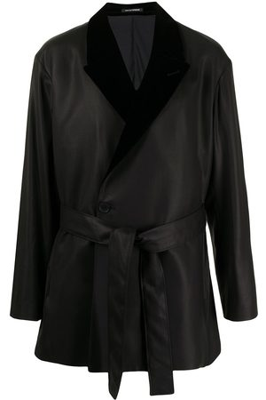 Emporio Armani Men Blazers - Tie-fastening fitted jacket