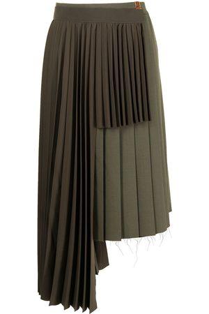 Maison Mihara Yasuhiro Women Pleated Skirts - Asymmetric pleated skirt