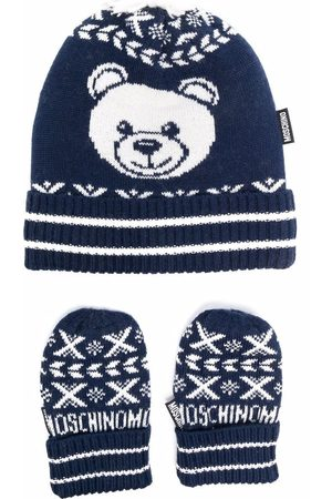 Moschino Hats - Knitted hat and mittens set