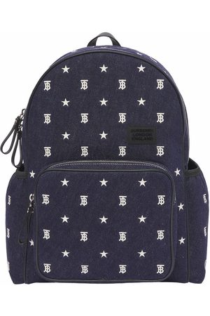 Burberry TB embroidered denim backpack