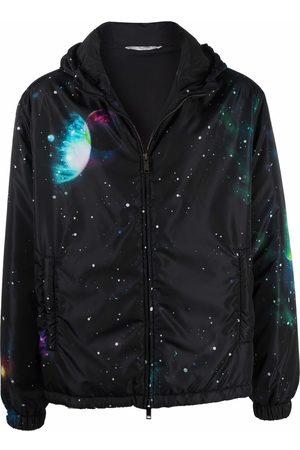 VALENTINO Men Jackets - Graphic-print zip-up jacket
