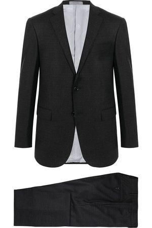 corneliani Single-breasted virgin wool- blend suit - Grey