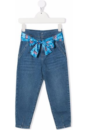 Billieblush Girls Jeans - Mid-rise tapered jeans