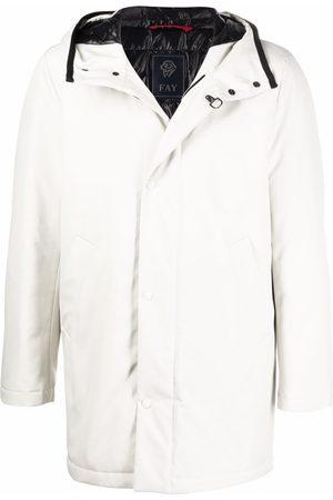Fay Men Parkas - Gancio hooded parka coat - Neutrals