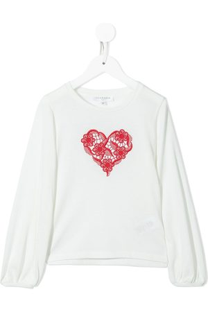 Charabia Girls Long Sleeve - Embroidered long-sleeved T-shirt