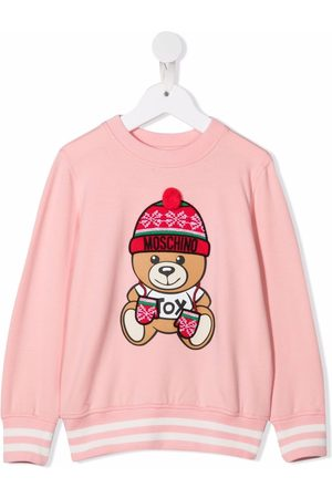 Moschino Kids Girls Hoodies - Teddy-print holiday sweatshirt