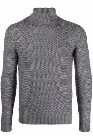 Lardini Roll neck textured-knit jumper - Grey