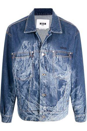 MSGM Graphic-print denim jacket