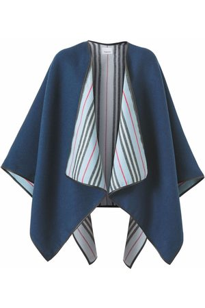 Burberry Ponchos & Capes - Reversible wool cape