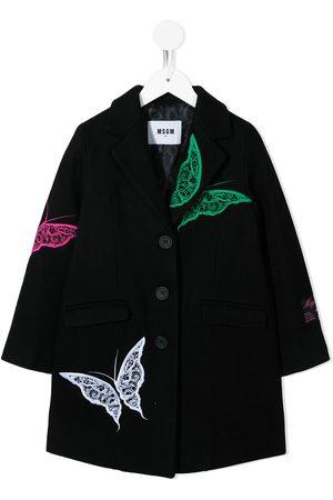 MSGM Kids Girls Coats - TEEN single breasted coat