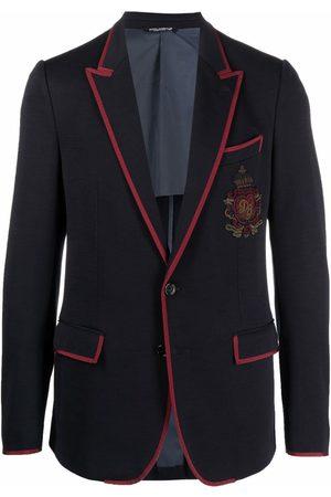 Dolce & Gabbana Men Blazers - Virgin wool-blend patch-detail blazer
