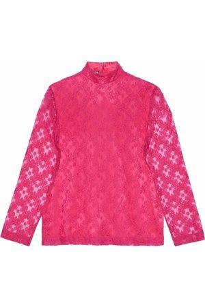 Gucci Men Tops - Floral lace blouse