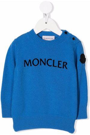 Moncler Enfant Sweaters - Logo intarsia jumper