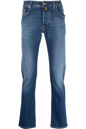 Jacob Cohen Men Slim - Pocket square distressed jeans