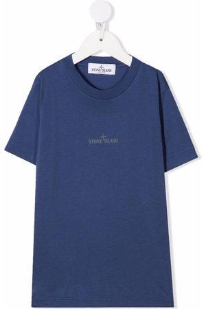 Stone Island Junior Boys Short Sleeve - Logo-print short-sleeved T-shirt