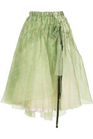 Renli Su Asymmetric draped silk skirt
