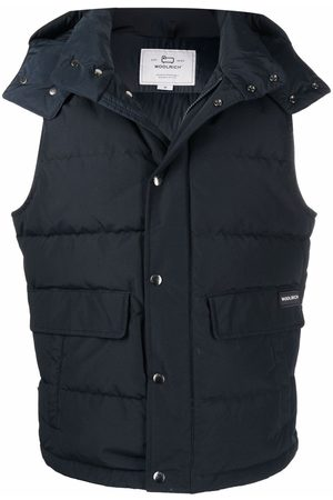 Woolrich Men Gilets - Down-feather hooded gilet