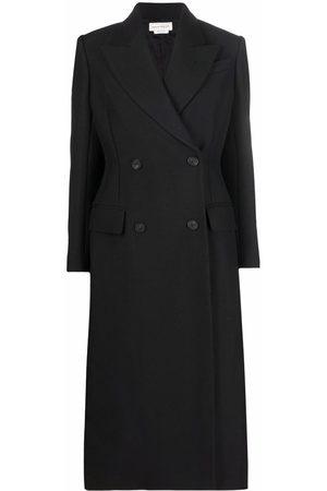 Alexander McQueen Women Corsets - Corset-detail double-breasted long coat