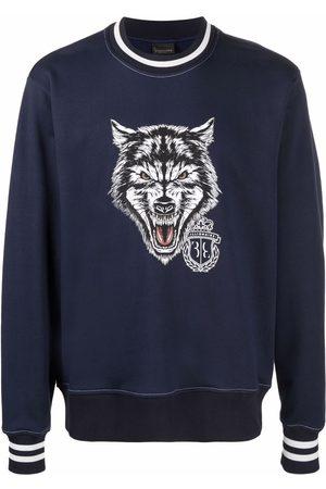 Billionaire Men Sweatshirts - Logo wolf-print sweatshirt