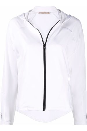 Cesare Paciotti Women Hoodies - Embroidered-logo zip-up hoodie