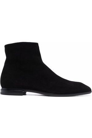 Cesare Paciotti Square-toe suede ankle-boots