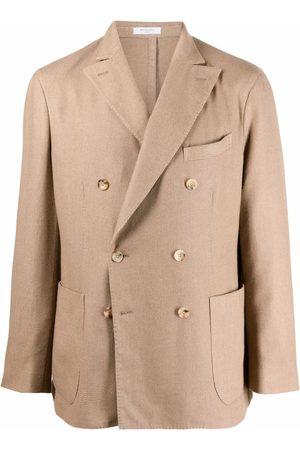 Boglioli Double-breasted wool-blend blazer - Neutrals