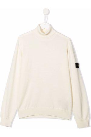Stone Island TEEN wool roll neck jumper - Neutrals