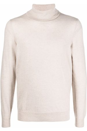 Zanone Men Turtlenecks - Roll-neck fine-knit jumper - Neutrals