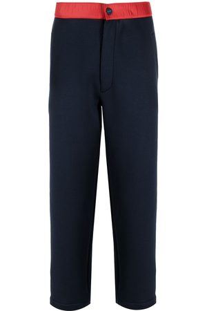 Kiton Contrast-waist track pants
