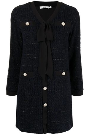 b+ab Bouclé-style tie-neck dress