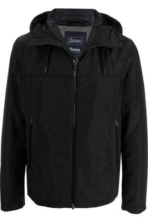 Herno High-shine hooded bomber jacket