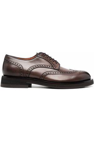Santoni Lace-up brogue Oxford shoes