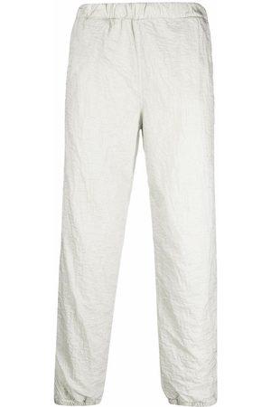 ERL Men Sweatpants - Crinkled-effect track pants
