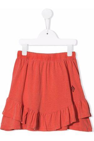 The Animals Observatory Girls Skirts - Embroidered-logo peplum skirt