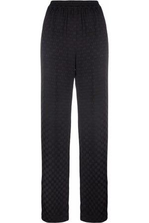 Michael Michael Kors Women Wide Leg Pants - Logo-print wide-leg trousers