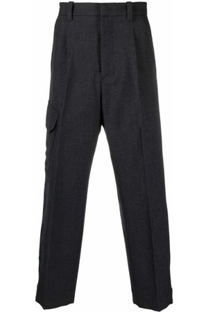 OAMC Men Formal Pants - Straight-leg tailored trousers - Grey